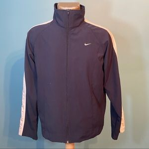 Nike men's lightweight navy blue zip up jacket